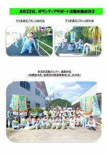 平成27年度第1回ボランティアサポート活動を実施!(H27.8.22)
