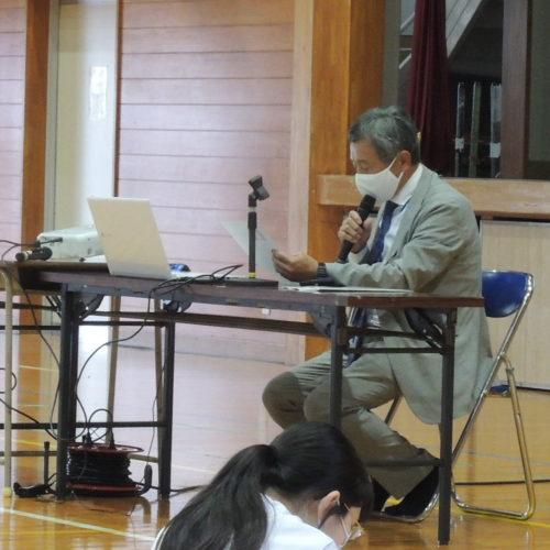 富島中学校で講演会を実施しました!(R2.11.6)