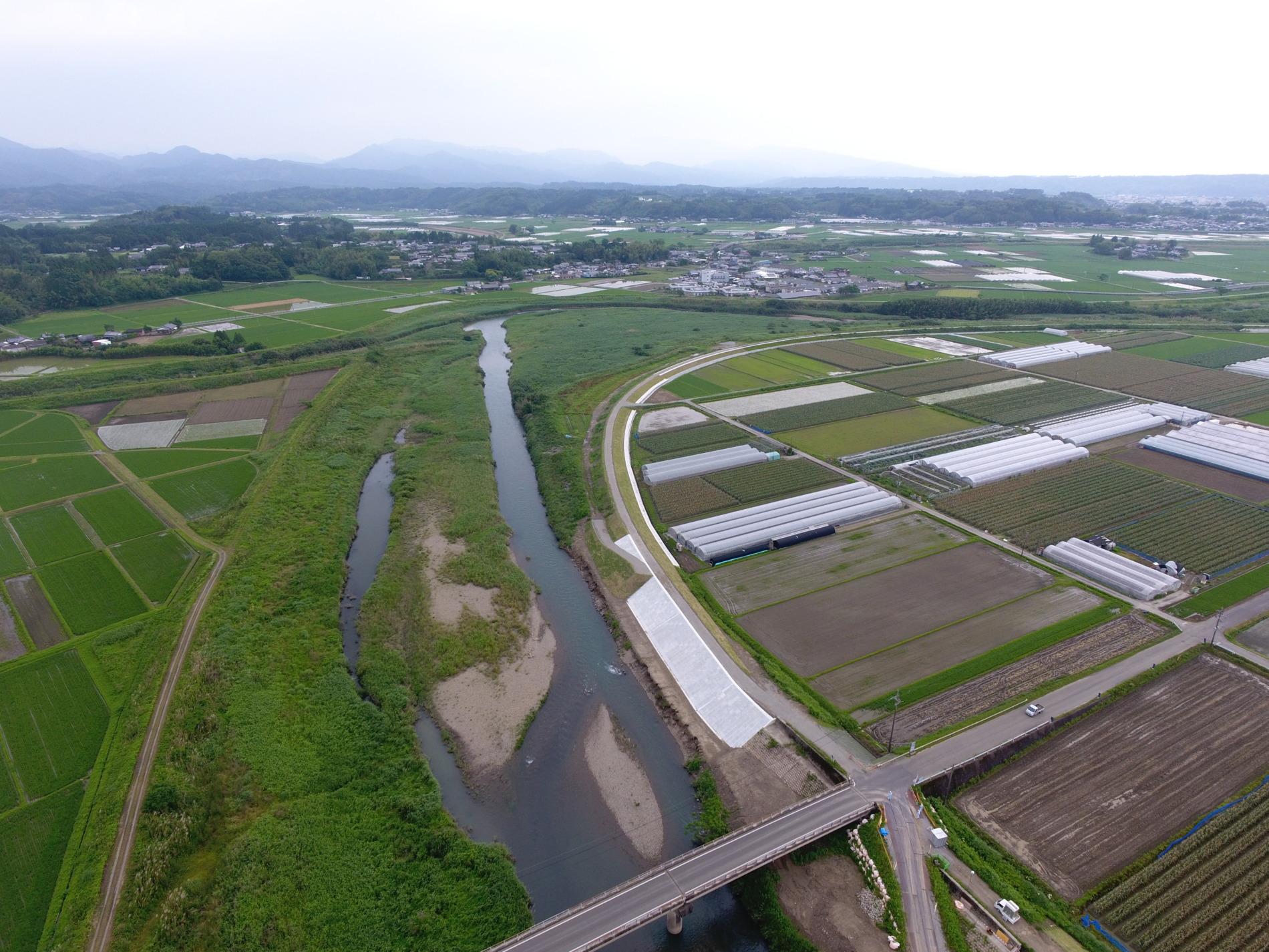 令和2年度 防安広域 第71-2号 三財川戸敷地区 河川改修工事 その1施工例