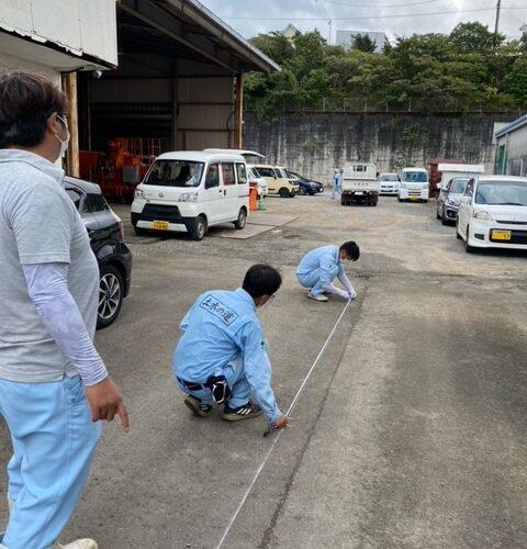 倉庫駐車場ライン引き